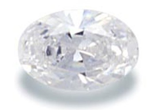 Picture of White Oval Cut CZ (6x4mm)