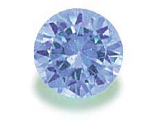 Picture of Light Blue Round Cut CZ (4mm)