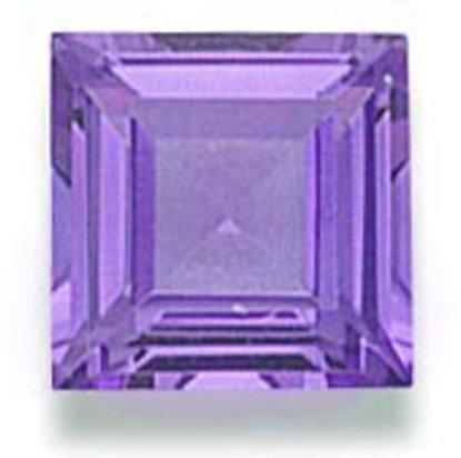 Picture of Purple Square Cut CZ (7mm)