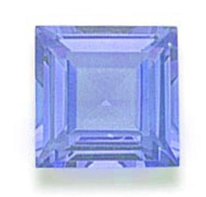 Picture of Light Blue Square Cut CZ (6mm)