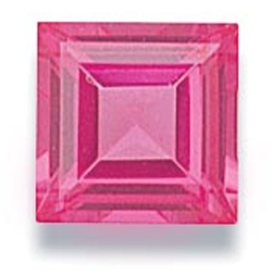 Picture of Pink Square Cut CZ (6mm)