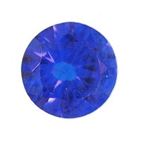 Picture of Blue Spinal Round Cut CZ (2mm) HQ