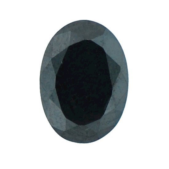 Picture of Black Oval Cut CZ (6x4mm)