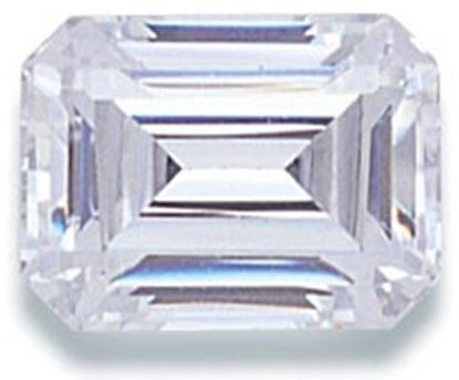 Picture of White Emerald Cut CZ (6x4mm)