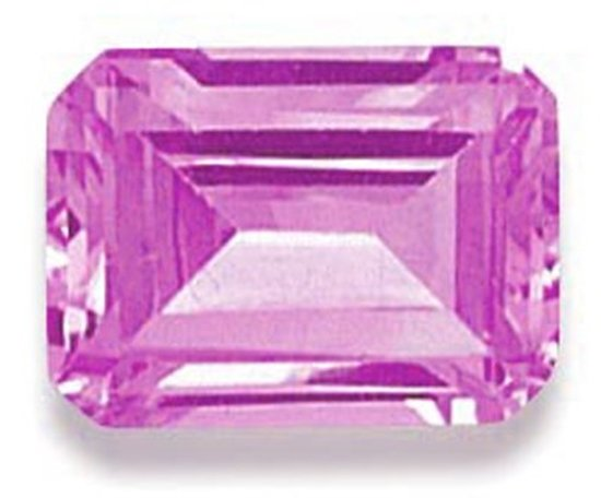 Picture of Pink Emerald Cut CZ (5x3mm)