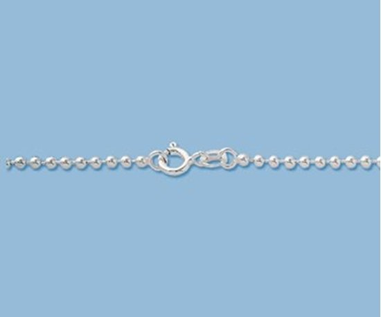 Picture of Sterling Silver Ball Chain 2mm 18 inch