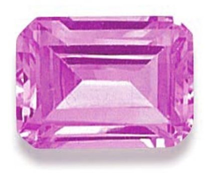 Picture of Pink Emerald Cut CZ (7x5mm)