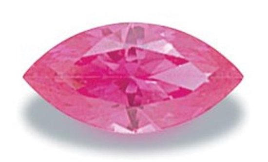 Picture of Pink Marquis Cut CZ (5x2.5mm)
