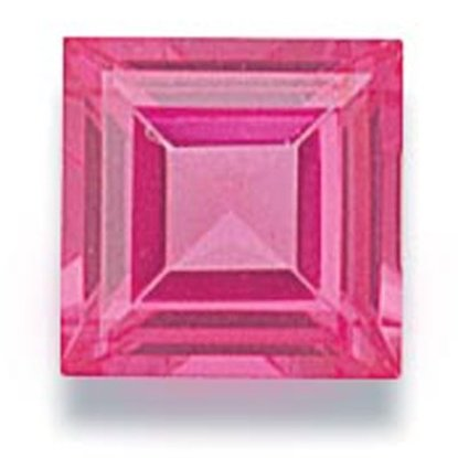 Picture of Pink Square Cut CZ (7mm)