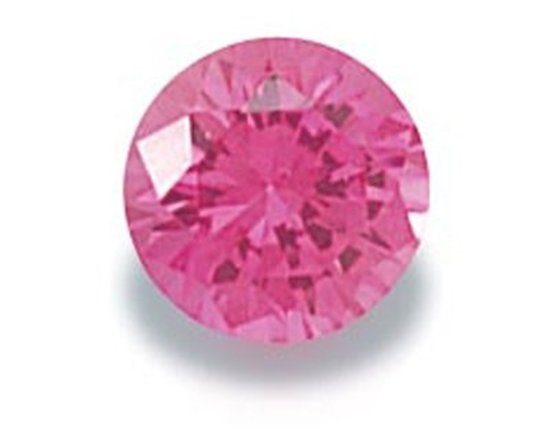 Picture of Pink Round Cut CZ (7mm)