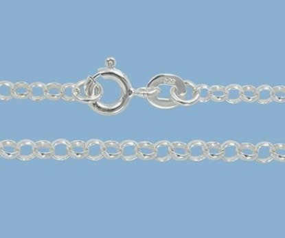 Picture of Sterling Silver Rolo Chain 2.5mm 16 inch