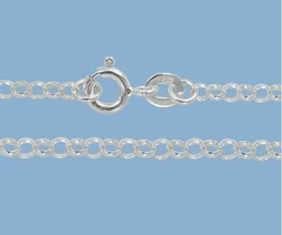 Picture of Sterling Silver Rolo Chain 2.5mm 18 inch