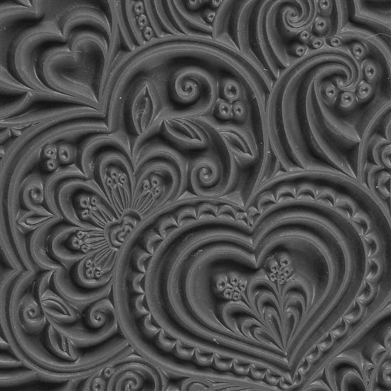 Picture of Texture Tile - Blooming Hearts