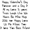 Picture of Word Stamps- Valentines Day