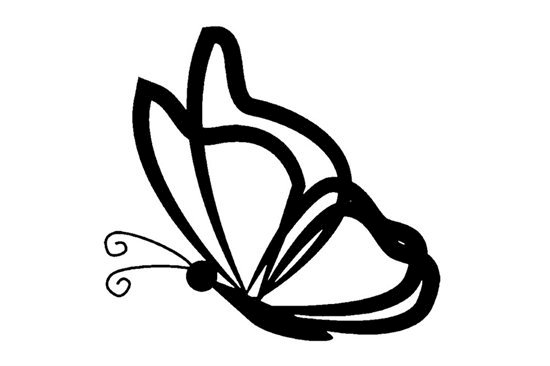 Picture of Butterfly Symbol Stamp