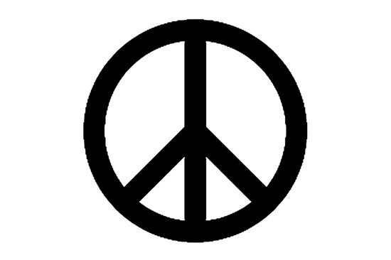 Picture of Peace Symbol Stamp