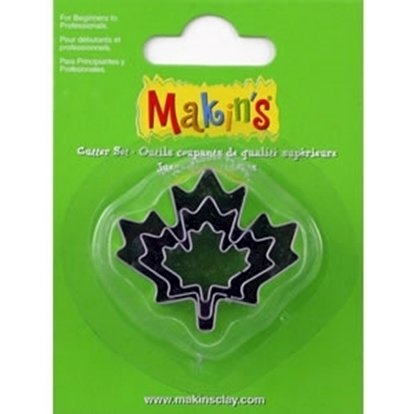 Picture of Makins Clay Cutter 3/set- Maple Leaf