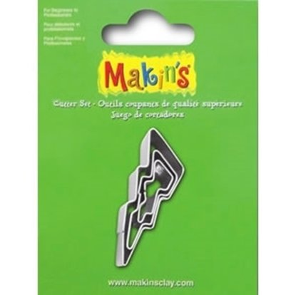 Picture of Makins Clay Cutter 3/set- Lightening Bolt