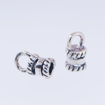 Picture of  Sterling Silver Fancy End Cap 4mm (2 pack)
