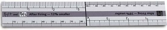 Picture of PMC Shrinkage Ruler
