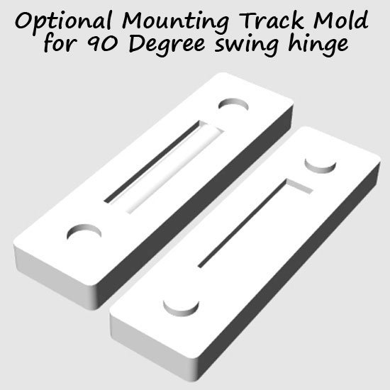 Picture of Track Mold(90 degree) for 4mm Hinges