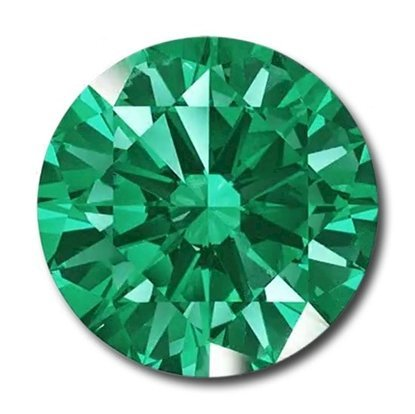 Picture of Emerald Round Cut CZ (2mm)