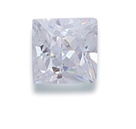 Picture of White Square Cut CZ (6mm)