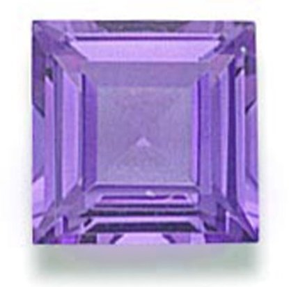 Picture of Purple Square Cut CZ (7mm)