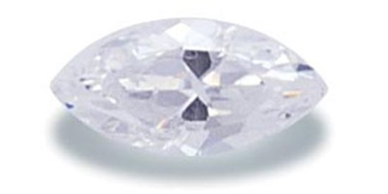 Picture of White Marquis Cut CZ (7x3.5mm)