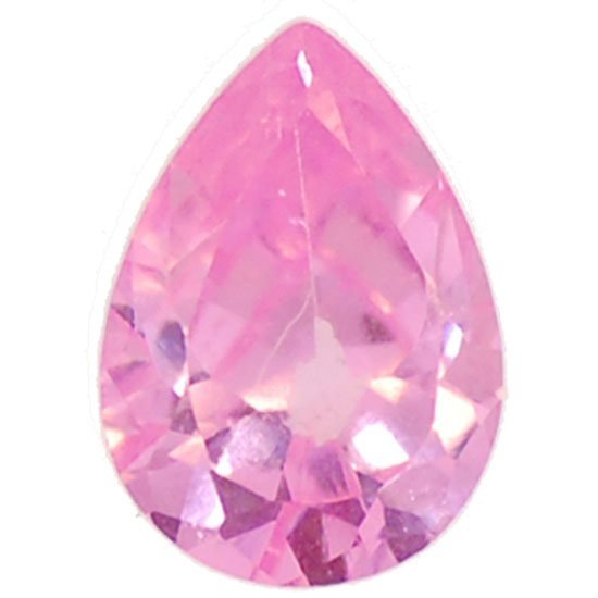 Picture of Pink Teardrop Cut CZ (7mm)