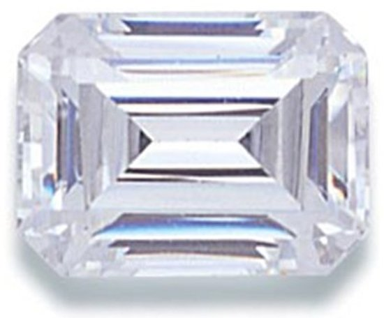 Picture of White Emerald Cut CZ (7x5mm)