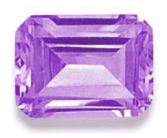 Picture of Purple Emerald Cut CZ (6x4mm)