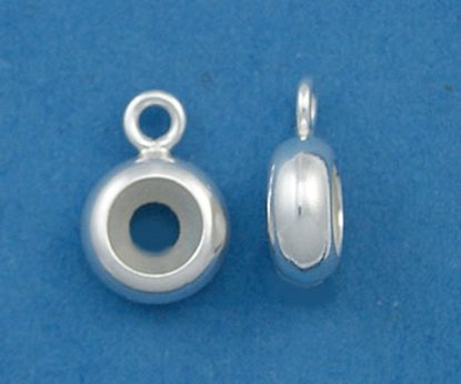 Picture of Sterling Silver Smart Tube with Ring 3mm(qty 1)