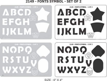Picture of 2149- Font Symbol set of 2