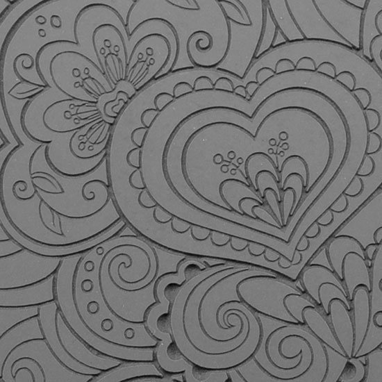 Picture of Texture Tile - Blooming Hearts Fineline