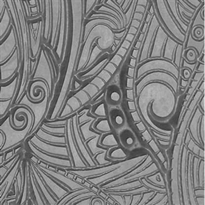 Picture of Texture Tile - Tribal Zentangle Reverse