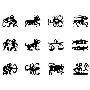 Picture of Astrology Symbol Stamps Complete Set