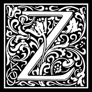 Picture of Monogram Stamp 14mm Z