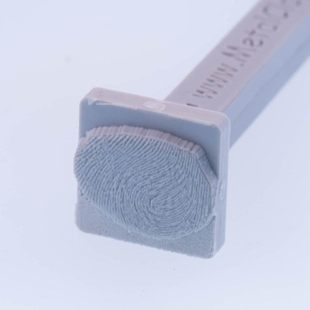 Picture Of SAMPLE Fingerprint Stamp 20mm 3 4in