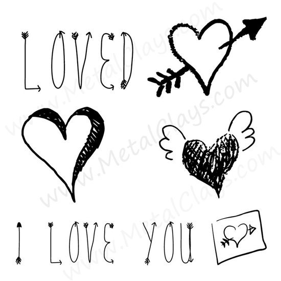 Picture of Lots Of Love 2-Symbol Stamp