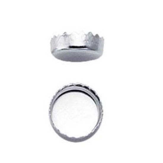 Picture of 4mm Serrated Bezel Cup .999 Pack (10)