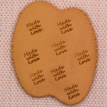 "Picture of Personalization Stamp- ""Made with Love"""