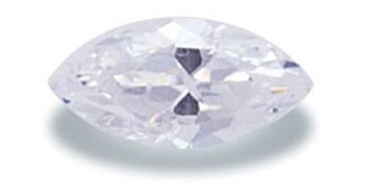 Picture of White Marquis Cut CZ (6x3mm)