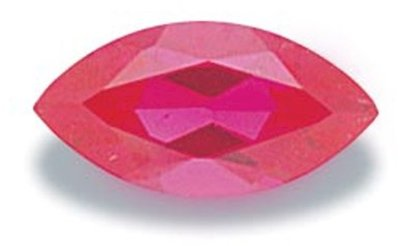 Picture of Ruby Red Marquis Cut CZ (7x3.5mm)
