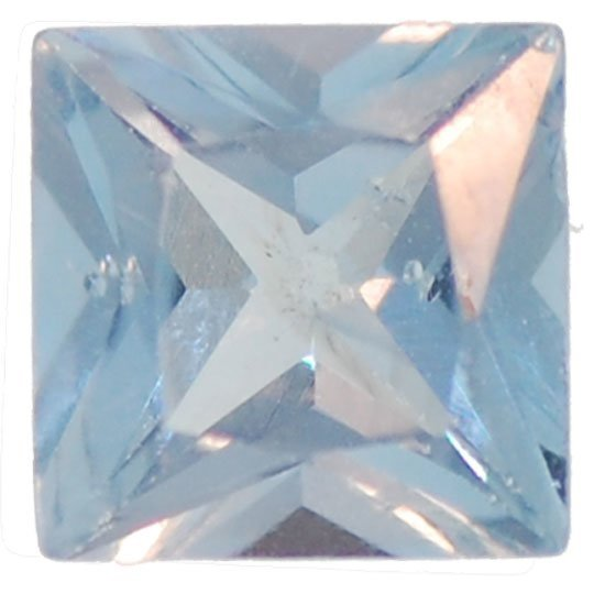 Picture of Light Blue Square Cut CZ (7mm)