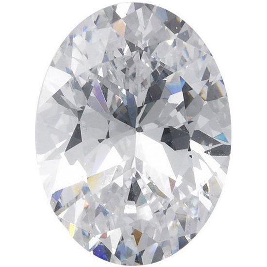 Picture of White Oval Cut CZ (5X3mm) 5 Pack