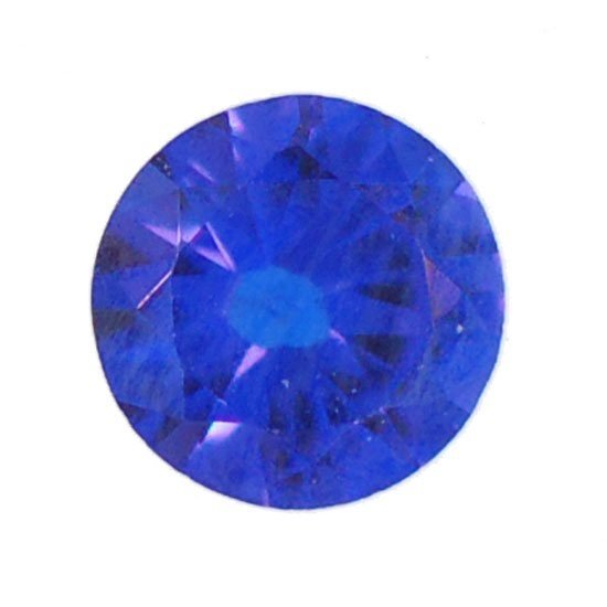 Picture of Blue Spinal Round Cut CZ (3mm) HQ