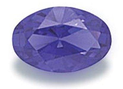Picture of  Dark Blue Oval Cut CZ (6 X 4mm)
