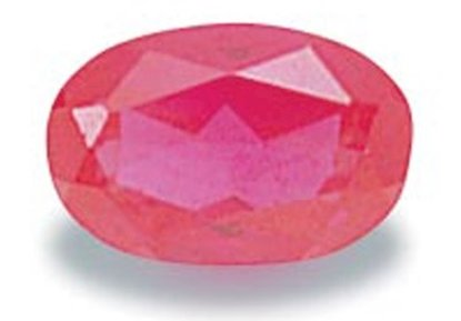 Picture of Ruby Red Oval Cut CZ (7x5mm)