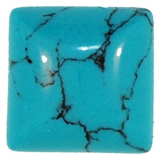 Picture of Turquoise Square Syn Cabachon 5mm